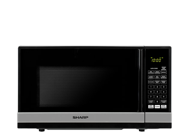 800W Compact Microwave - Black/Silver