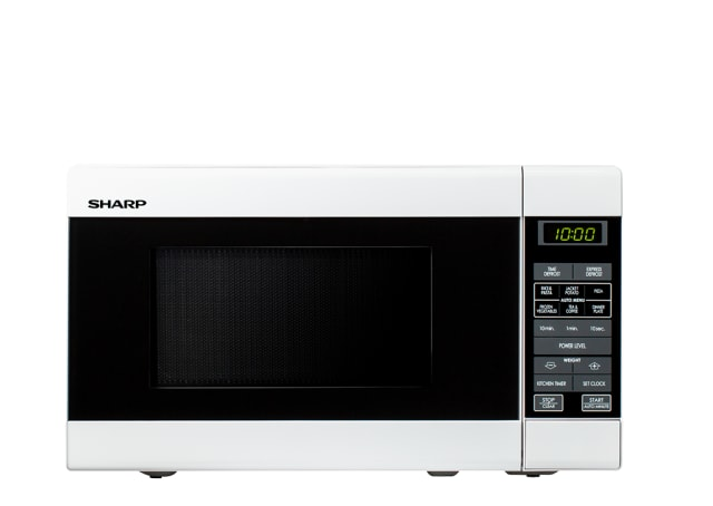 750W Compact Microwave - White