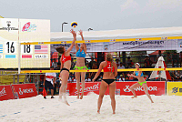 US women's volleyball team win second...