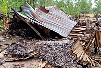More than 30 houses affected by...