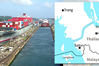 Thailand's 120-km long canal is...