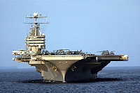 US aircraft carrier near Iran's home...