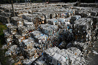 More than 210 tons of trash was sent...
