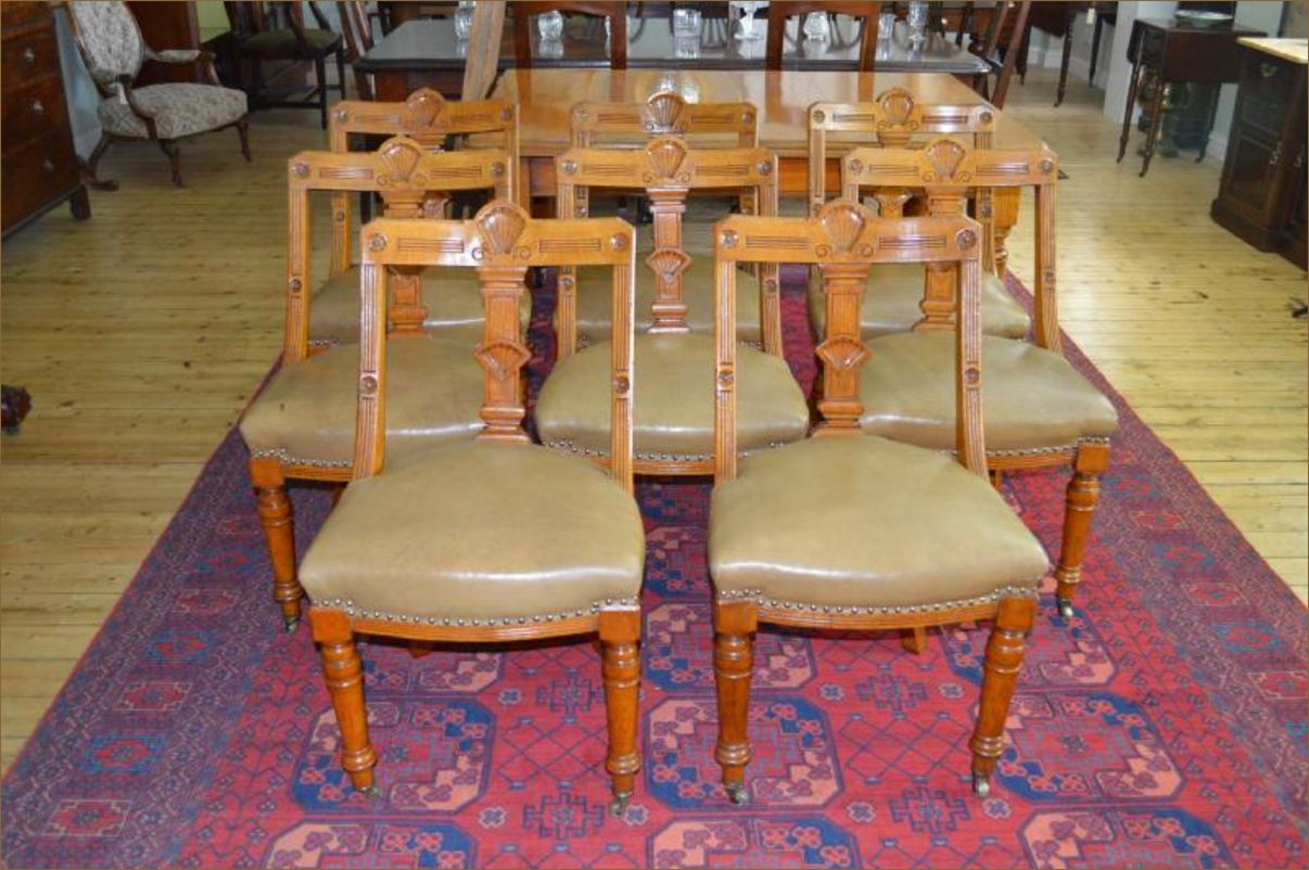 Victorian Golden Oak Dining Table Amp 8 Chairs Belle Vue