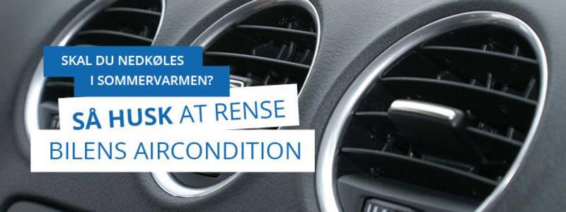 Bilens klimaanlæg skal renses