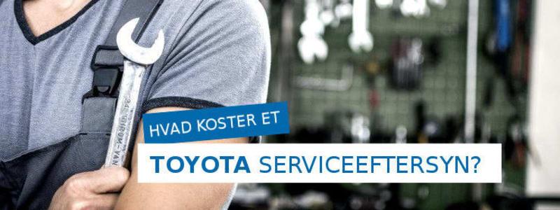 Få pris på et serviceeftersyn til din Toyota