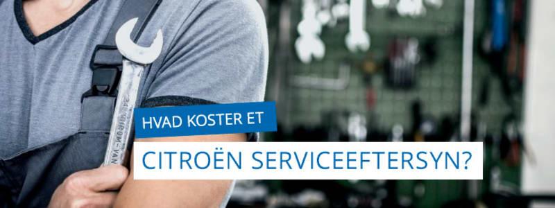 Serviceeftersyn - Få en god pris på Citroën & DS serviceeftersyn