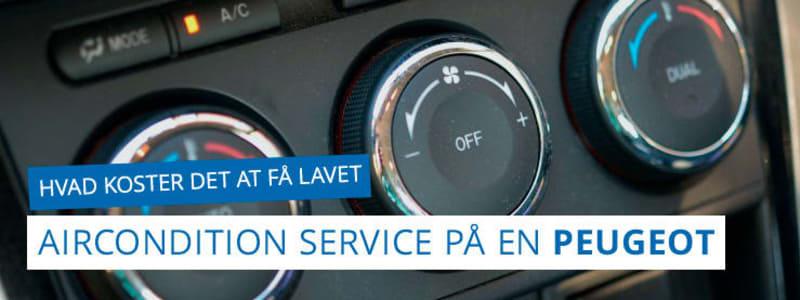Få pris på airconditionservice til din Peugeot