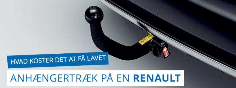 Hvad koster det at få monteret anhængertræk - Renault