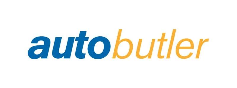 Logo - Autobutler med blå og orange skrift