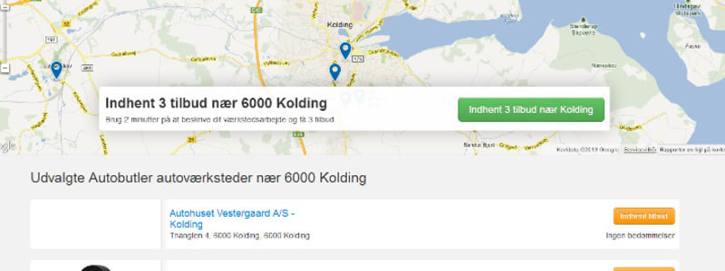Kolding - find lokalt værksted