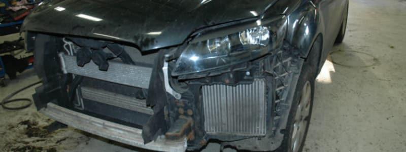 Audi der har været med i et uheld