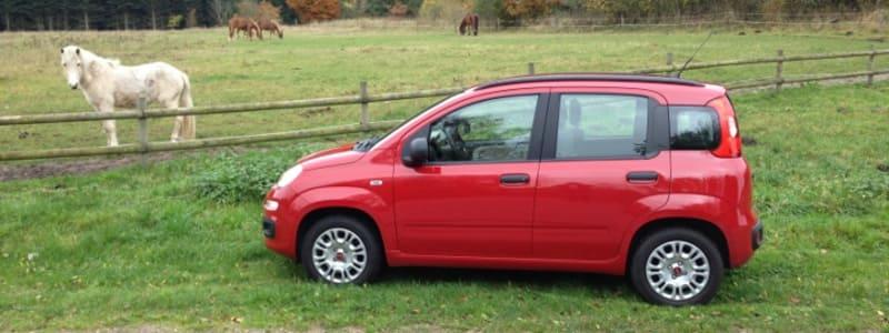 Fiat Panda står ude på en mark