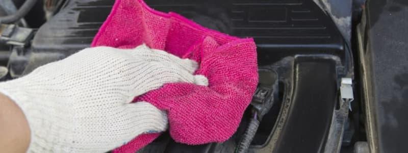 Motorvask fjerner snavs og forebygger små skader