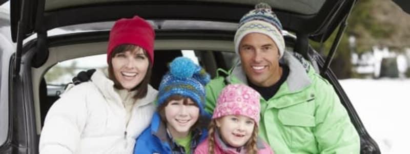 Biltur i vinterferien
