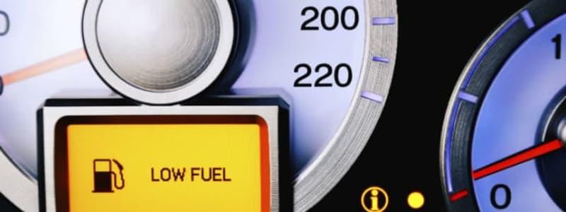 Benzinmåler - næsten ikke noget benzin tilbage