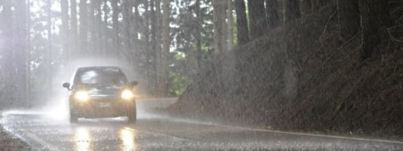 Regnvej på bil