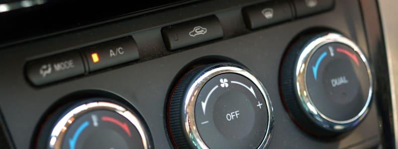 Boutons et commandes de climatisation