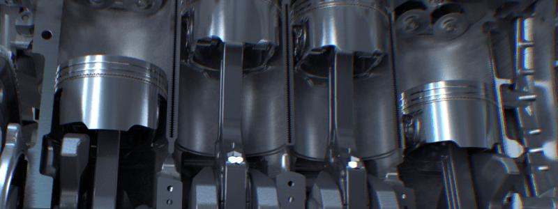 Pistons d'un moteur automobile