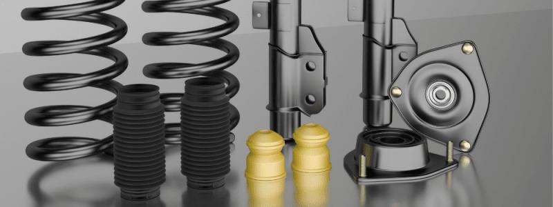pièces détachées d'un kit de suspension