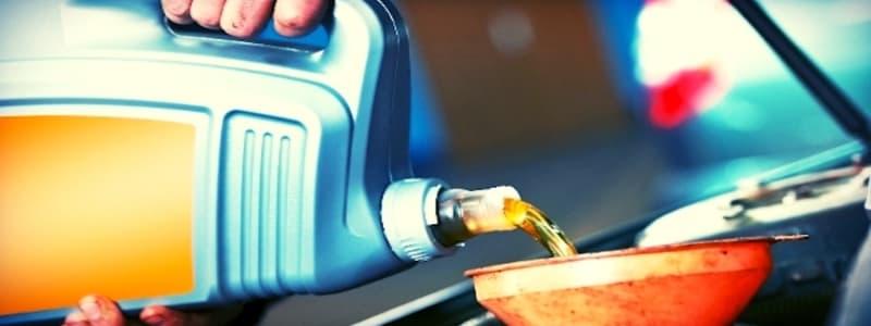 Byta av motorolja för bil