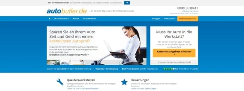 Autobutler webbsida för Tyskland