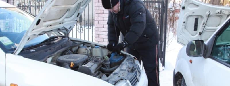Byte av bilbatteri i kyla