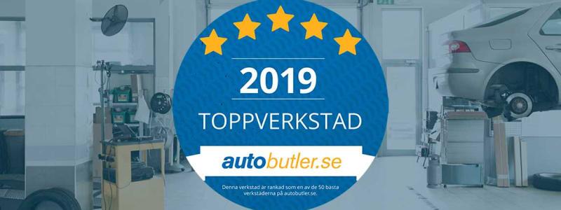 Diplom till Sveriges bästa verkstäder 2019