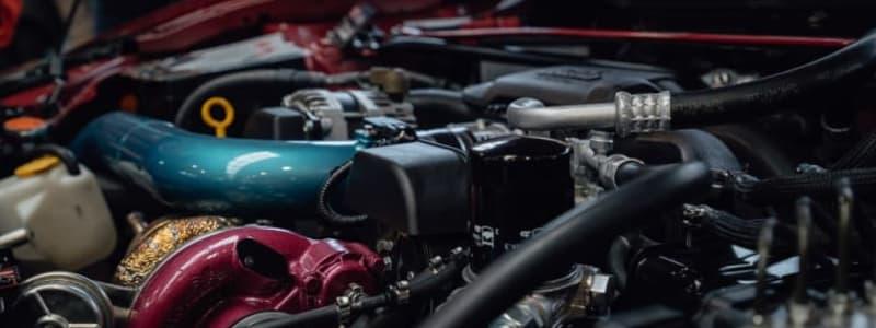 Närbild av turboladdare i motor
