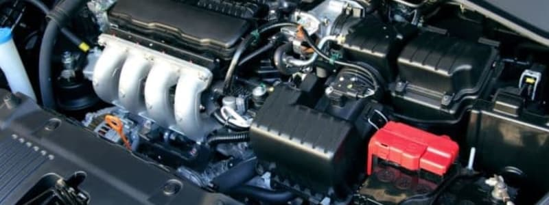 Överblick över motorn i en Mitsubishi