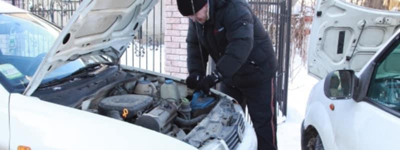 Byte av batteri på vintern