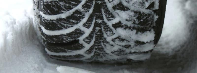 Vinterdäck på snö