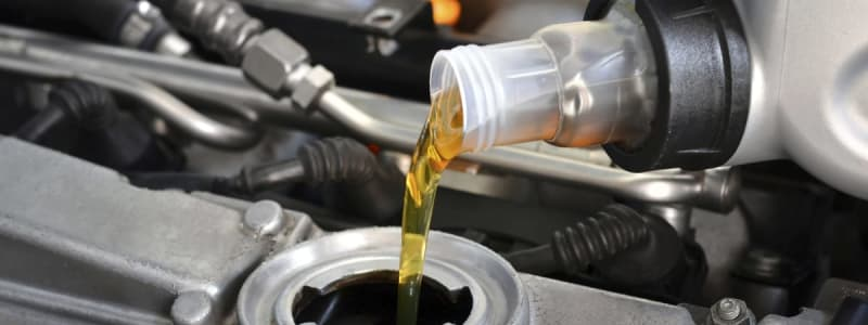 New oil is poured into the tank of a Renault