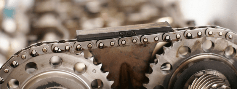 Timing chain and gears