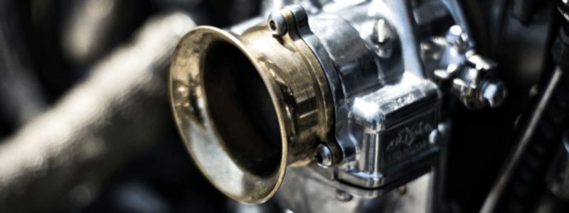 Close up of a carburettor