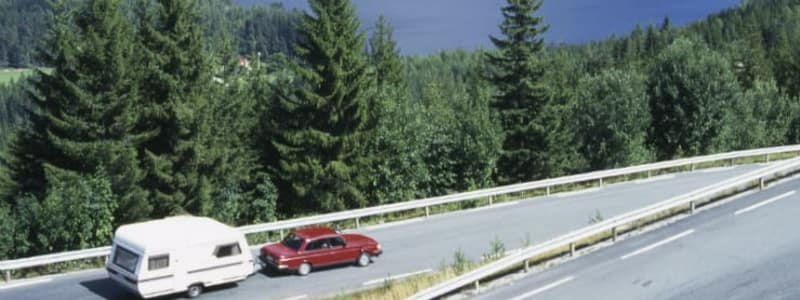 Learn about speed limits when driving with a caravan