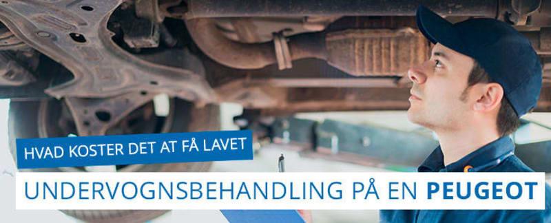 Undervognsbehandling og rustbeskyttelse til Peugeot