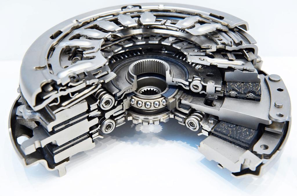 detailaufnahme eines DSG Getriebe