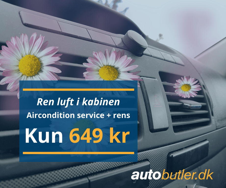 Airconditionservice + rens for 649 kr