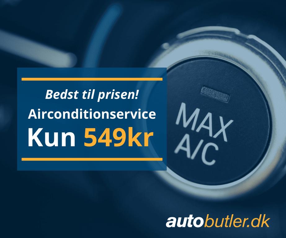 Bedst til prisen! Airconditionservice til kun 549 kr