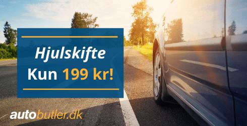 Hjulskifte - 199 kroner