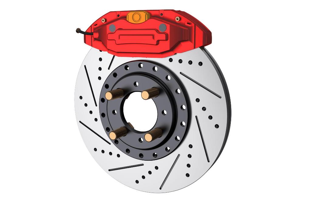 étrier de frein rouge disque