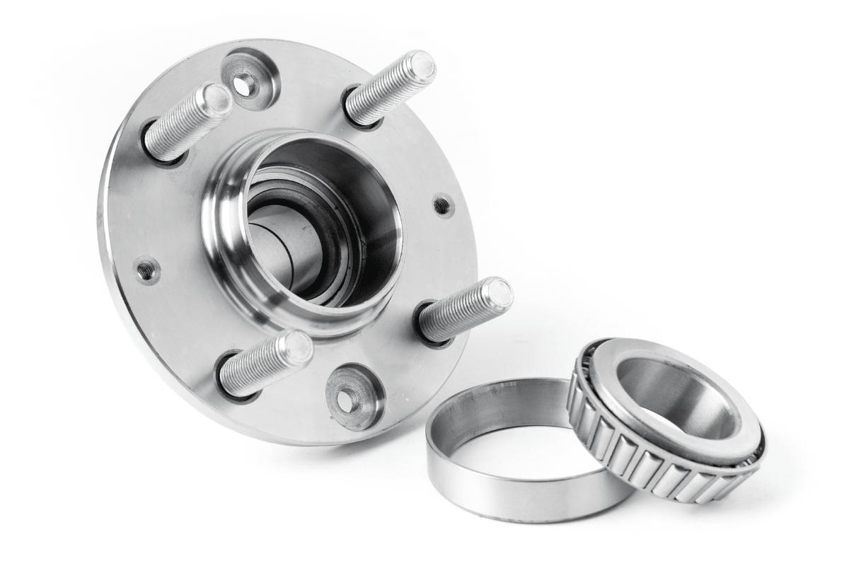 roulement de roue fond blanc