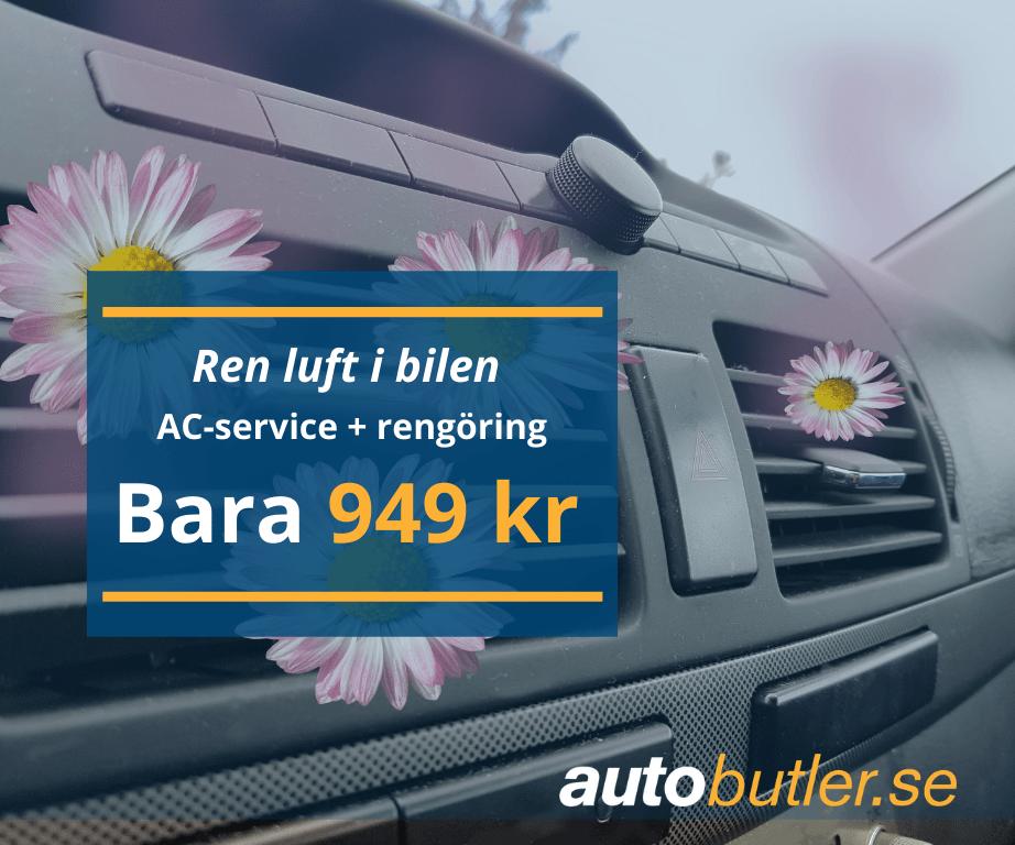 AC-service + rengöring 949 kr