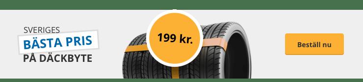 Sveriges bästa pris på däckbyte - bara 199kr. beställ på autobutler