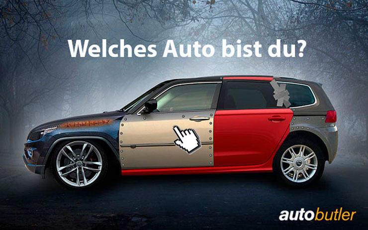 Mach das Autobutler-Autoquiz und finde heraus, welches Auto du bist!