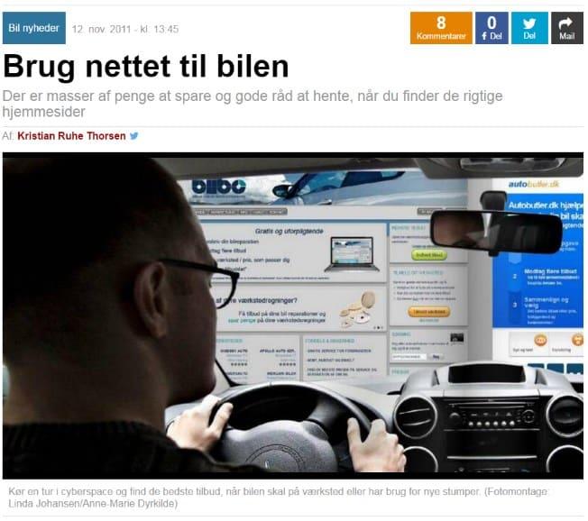 Ekstrabladet: Brug nettet til bilen