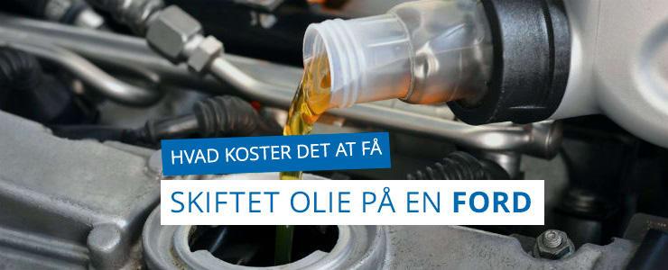 Få pris på olieskifte til din Ford