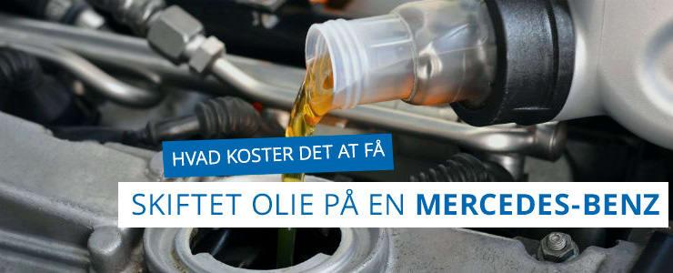 Få pris på olieskifte til din Mercedes