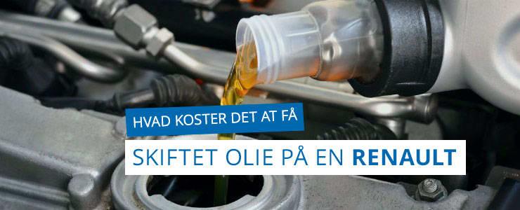 Olieskift på Renault